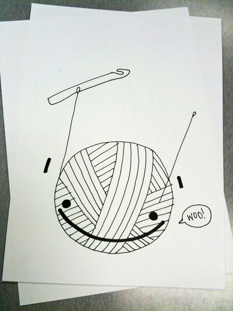 """obey crochet"" hooker hook craft drawing yarn doodle"