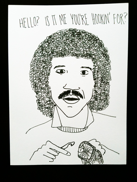 lionel richie crochet hook obey drawing