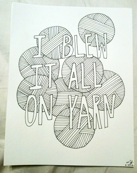 poster obey crochet drawing