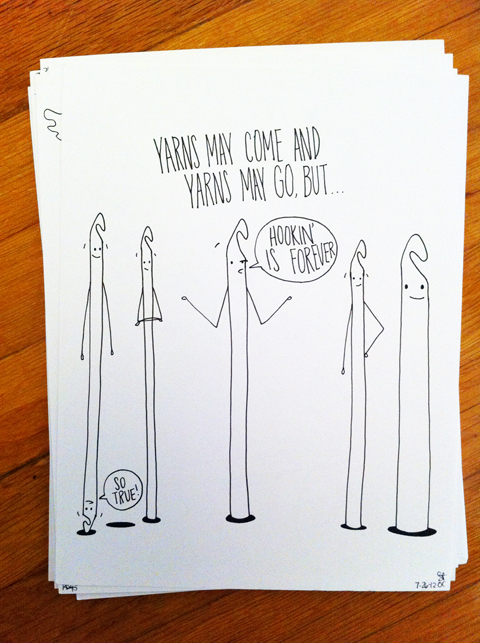 """obey crochet"" hook hooks craft crochet comic drawing doodle"